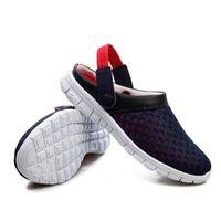 El tamaño al por mayor-más los zapatos del verano 39-47 calza las sandalias 2016 Los nuevos deslizadores respirables del Mens de los deslizadores de tirón de la playa calzan el resbalón al aire libre encendido de los zapatos