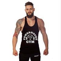 b vest - Golds Tank Top Men Sleeveless Shirt Bodybuilding Stringer Fitness Men s Cotton Singlets Muscle Clothes Workout Vest B