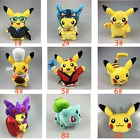 baby doll costumes - Poke Pikachu Doll Cartoon Cosplay Christmas Costumes Doll Anime Uniform Soft Plush Kids Baby Toy Style XL P154
