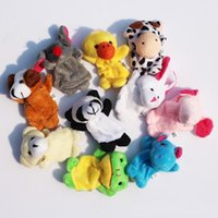Wholesale 2017 new Retail Baby Plush Toy Finger Puppets Talking Props animal group set