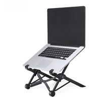Wholesale Foldable stand laptop desk table pc Plastic Cooling rack protection of cervical vertebra enhanced nylon support Inch or Larger size