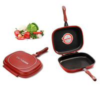 Wholesale Happycall Happy Call cm Big Size Fry Pan Non stick Fryer Pan Double Side Grill Fry Pan