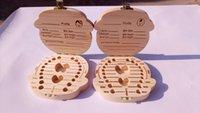 Wholesale Keepsakes The wooden case of baby teeth saving the keepsakes to pregant woman as a gift