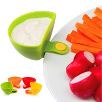 Wholesale Assorted Salad Sauce Multi purpose Plastic Colorful Dip Clips Plate Garb Dressings Serving Tray Clever Gadget Kitchen Accessories