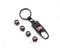 audi tt tire - Car accessories Car Wheel Tire Valve Caps Logo Keychain Dust Stems Air Caps Cover S for Audi A1 A3 A4 A6 A8 A7 TT Q3 Q5 Q7 RS3 RS5 RS7