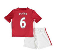 Wholesale TOP quality KIDS MancHESTERES kids IBRAHIMOVIC Pogba jerseys AWAY BLUE kids ROONEY MEMPHIS MARTIAL unITED ball SHIRT