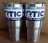 Wholesale DHL free RTIC Logo Cups Tumbler Rambler Cups Stainless Steel Sharp as YT Mugs oz oz Cooler Bilayer Insulation Mugs