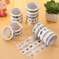 Wholesale Cute Black and White Tape DIY Cartoon PVC Waterproof Tape Decorative Adhesive Tape for Party Decoration Supplies By Random