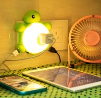 abs turtles - Baby turtle LED Night Light with light Sensor ABS PC and Dual USB Wall Charger in the Dark for Hallway Bathroom Living Room Kitchen