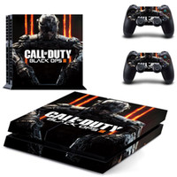 Cheap Pro Gamer For Black Ops 3 Skins For Sony Play station 4 Controller Sticker For PS4 Console & 2 pads