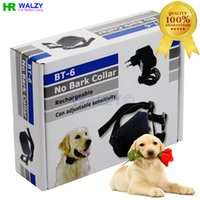 Wholesale Hot Anti Bark Dog Collar with work models for dog behave training build in Rechargeable Battery BT6 By Courier