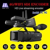 al por mayor aplicación para teléfono celular-Mina 2017 nuevo diseño H.264 H.265 1080P Full HD 4G / wifi codificador de vídeo HDMI / SDI mediante el uso de la aplicación en el teléfono celular