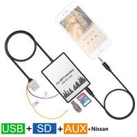 Wholesale Car MP3 Player USB SD AUX Input MP3 Audio Adapter Digital CD Changer for Nissan Almera Murano Navara Pathfinder Teana
