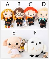 Wholesale Hot Sale quot cm Harry Potter Plush Toy Dolls Q Version Malfoy Hermione Dobby Owl Hedwig Plush Pendant Kids Birthday Gift