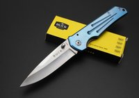 Wholesale The famous American buck folding knife DA81 outdoor camping and hunting essential tool silver knives edge and very sharp