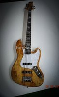 Wholesale directly factory custom strings strings bass guitar can fretless and left hand lectric bass guitars good top in stock