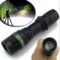 Wholesale 5000LM ZOOM XM L T6 LED AAA Tactical Police Flashlight Torch Lamp Light