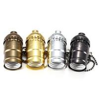 Wholesale Retro Vintage E26 E27 Screw Bulb Aluminum Shell Base Lamp Holder Lighting Accessories New Socket Holder