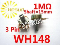 Wholesale WH148 B1M mm Pin W M OHM Linear Taper Rotary Carbon Potentiometer Pot x