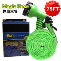 Wholesale XKX home product in Spray Gun Expandable Garden Hose Latex Tube Magic Flexible Hose For Garden Car Plastic Hoses Magic Hose
