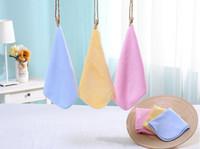 Wholesale 25 cm Baby Newborn Children Plain Velvet Soft Bath Towels Baby Handkerchief Washcloth for Bathing Feeding baby washcloths washrag face