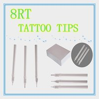 Wholesale Box Of Flat Size RT white Disposable Long Tattoo Tips Nozzle Supply HLDT A RT