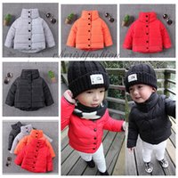 Wholesale Fedex DHL Free Kids Boys Girls Winter Spring Clothes Baby Cotton Warm Jacket Long sleeve down coats children Coat Thick High Neck Coat M471B