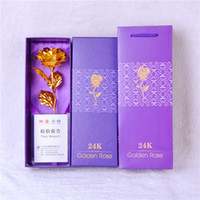 Wholesale Creative gift factory direct Valentine s Day gift K gold foil rose gold jewelry gold rose gift box
