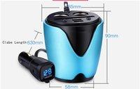 DC24V best usb storage - 2017 best sale multifunction cup shape car charger cigarette lighter USB switch voltage monitoring Storage Box