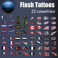 basketball temporary tattoos - fashion Olympic Flash tattoo football basketball fans country stickers Temporary Tattoo for sport fans Flag tattoo