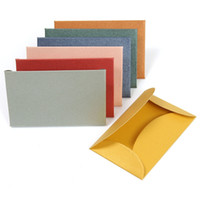 Wholesale set Vintage Colorful Small Colored Pearl Blank Mini Paper Envelopes Wedding Invitation Envelope Gilt Envelope DIY Crafts