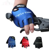 Wholesale New Bicycle Cycling Gloves Anti Slip Short Finger Glove Cycling Protective Gear Mountain Bike Riding Gloves