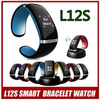 Wholesale Smart Wristband L12S Smart Watch Smartband Bluetooth Sport Bracelet Clock Caller ID alarm Pedometer Sleep Wrist Watch for iphone Android