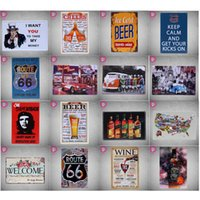 Wholesale 40 Colors Vintga Retro Tin Signs Home Decor Club Bar Coffee House Painting Art Wall Decoration Metal Signs cm
