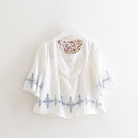 baby dear - Everweekend New Girls Dears Print Lace Sleeve Cotton Tees Sweet Baby Summer Fashion Blouse Western Hot Sell Tops