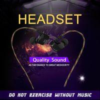 Wholesale DM200 Subwoofer Music Phone Headset Sport Headphone Earphone HIFI Music In Ear Earbud via DHL
