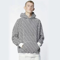 Wholesale Fashion Fear Of God Off White Hoodie Rail To Rail Letter Print Cotton With Velvet Slim Casual Hoodies For Men