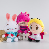 alice collections - New Alice In Wonderland Anime The Red Queen Cheshire Cat White Rabbit Alice Q Stuff Plush Toy Doll Birthday Gift Collection