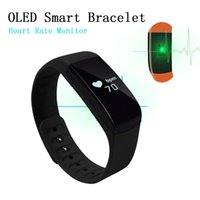 apple multi monitor - 2016 Hot Sell Sport Bluetooth WristBand Smart Bracelet with OLED Touch Display Heart Rate Monitor Multi Language Pulse Tracker