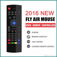Wholesale MX3 Ghz Wireless Keyboard Air Fly Mouse Universal Remote Control Without MIC Voice For Android TV BOX VS RII I8 Keyboard
