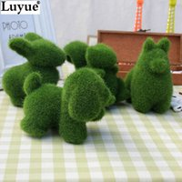 animal land - Artificial grass Turf small cute animals toy decorations animal grass land Reduce the eye fatigue chrismas decor