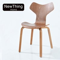 acrylic office chair - Contemporary and contracted north European training office computer chair solid wood chair fashion leisure meeting coffee restaurant