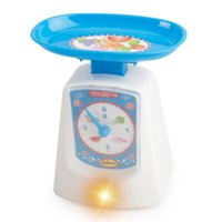 Wholesale Mini Simulation electronic scale toy for kid classic electric furniture toy the best gift for children blue