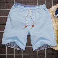 beach slacks - Summer Shorts Men Linen Classic Shorts Casual Beach Short Pants Brand Famous Slacks Plus Size XL tenis masculino MSHT014