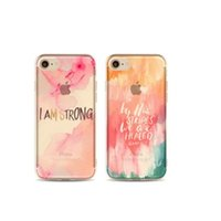 apple slogan - Welcome OEM Order Words Slogan Color Painting TPU Mobile Phone Case for iphone plus Soft Slim Impact Resistant Protective Shell Shockproof