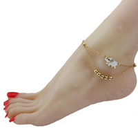Wholesale Hot Selling New Barefoot Sandals Stretch Anklet Chain Elephant Retaile Sandbeach Wedding Bridal Bridesmaid Foot Jewelry