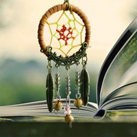 Wholesale New Fashion Gift Dreamcatcher Feather Wind Chimes Dream Catcher Key Chain Women Vintage Indian Style Keychain JF