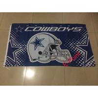 Wholesale Dallas Cowboys ft x ft cm cm Polyester America Football Flag