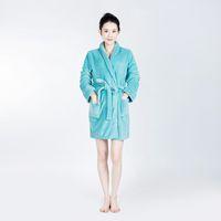 Wholesale Soft Coral Fleece Sleepwear - Bathrobe Women Pajamas Hotel SPA Plus Robes Pajamas for Women Super Soft Coral Fleece Coral Cashmere Nightgown Sleepwear Bath Towels