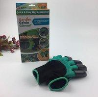 Новые садовые джинсовые перчатки с 4 когтями Быстрый простой способ садоводства Строители Копание Посадка / Резина + Полиэстер с коробкой